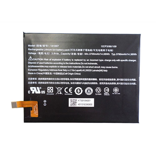 Acer KT0010N001 Iconia Talk S A1 724 batterie