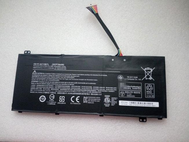 4870mAh/55.5Wh Acer Aspire V15 Series Batterie de remplacement pour Acer AC15B7L
