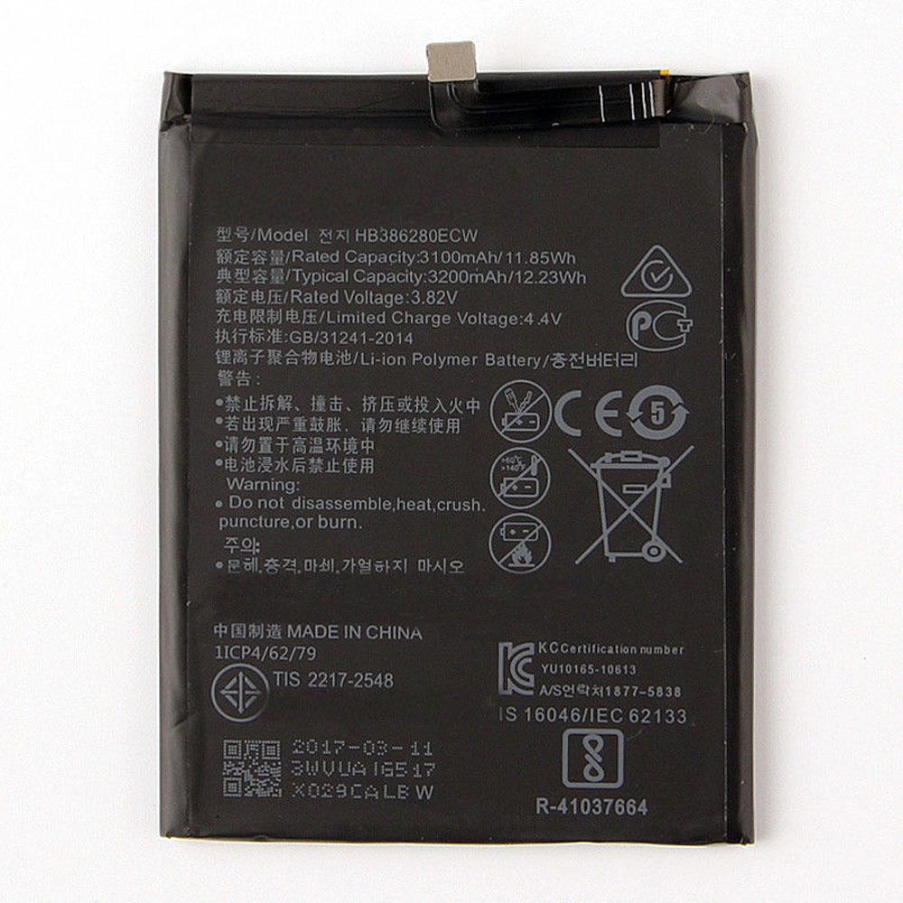 3100MAH/11.85Wh Batterie de remplacement pour HuaWei HB386280ECW