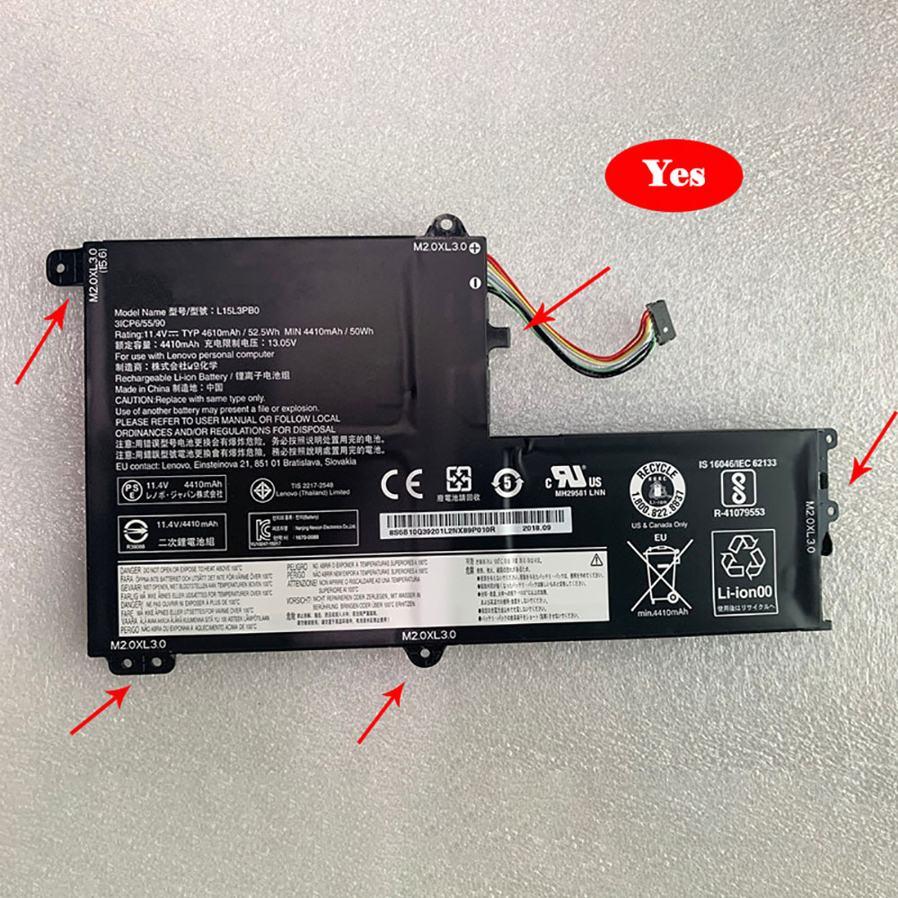 Lenovo L15M3PB0 batterie