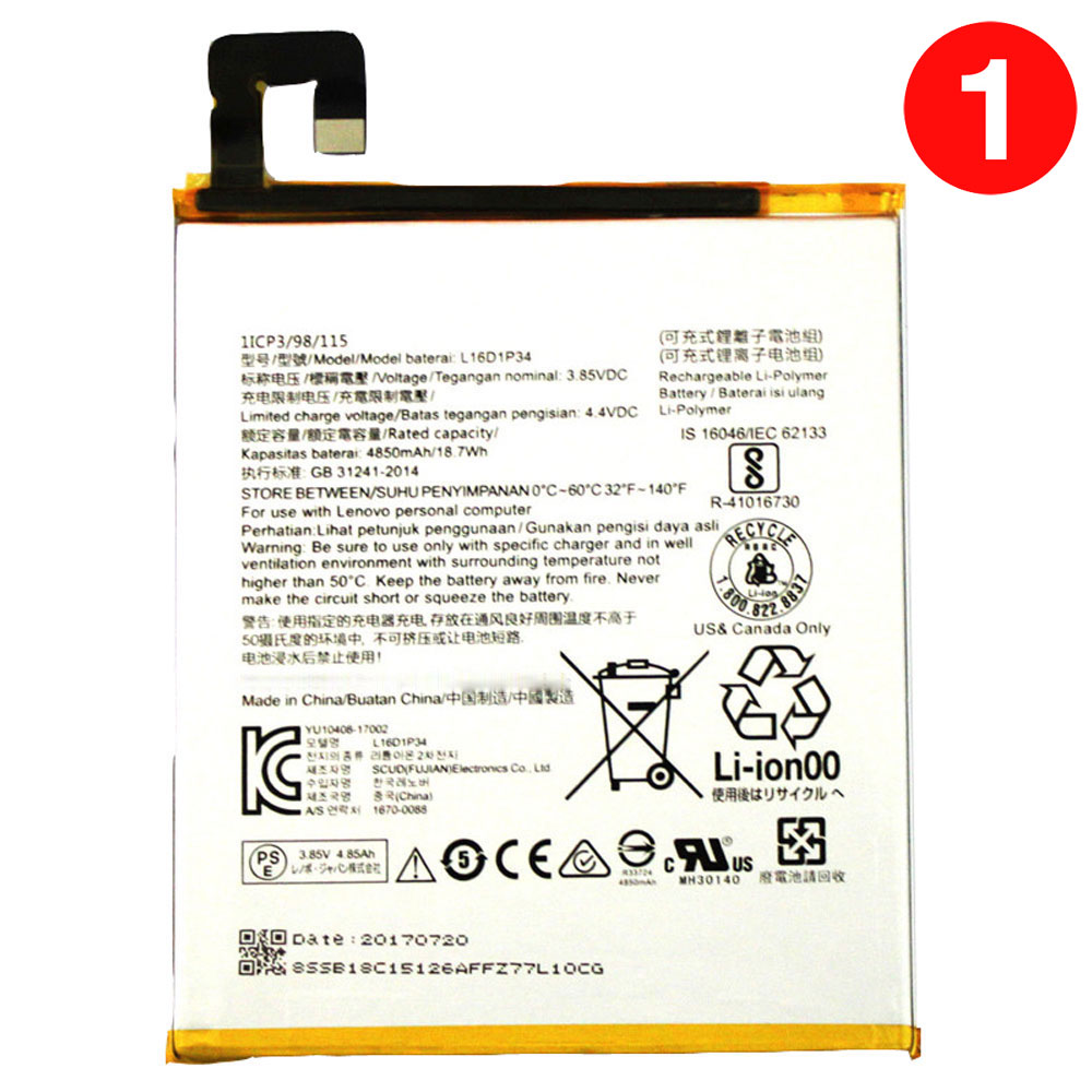 Lenovo L16D1P34 batterie