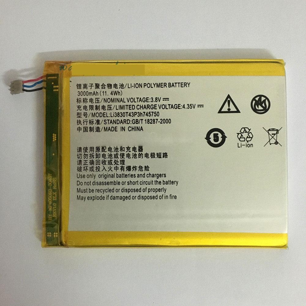 ZTE Li3830T43P3h745750 batterie