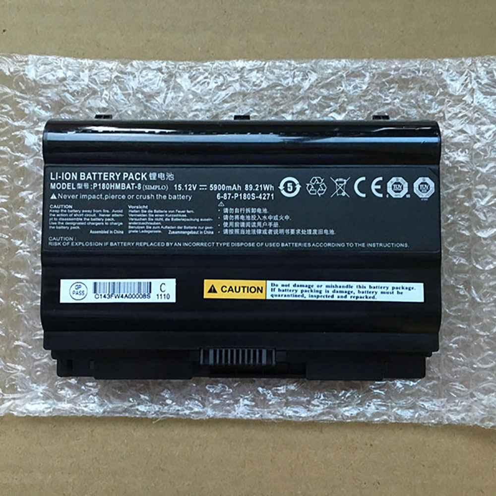 Clevo 6 87 P180S 427 laptop battery batterie