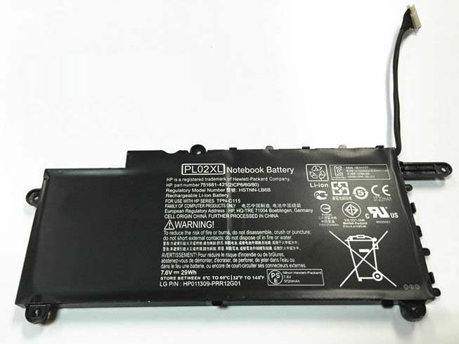 HP PL02XL batterie