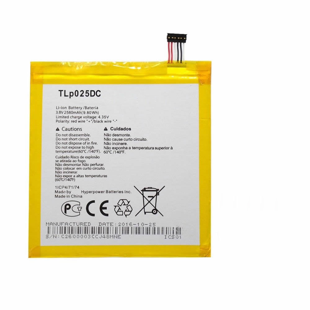 Alcatel TLP025DC batterie