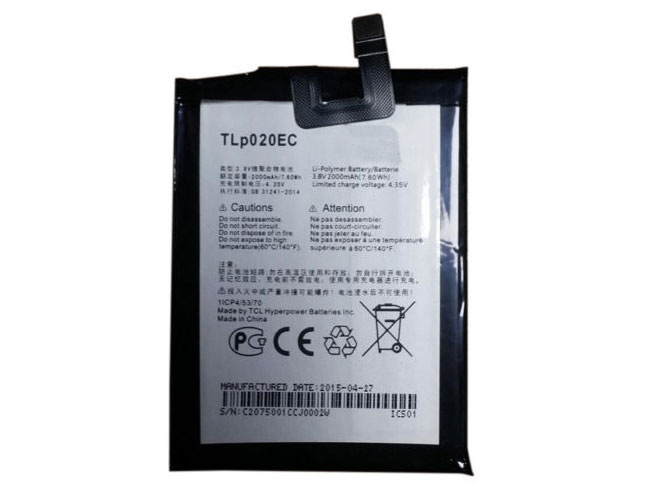 Alcatel TLp020EC batterie